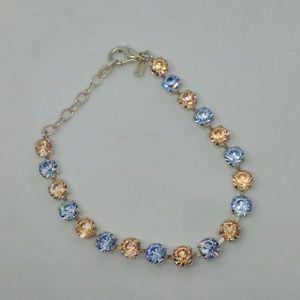 Eden pink and blue stone in silver bracelet nwot